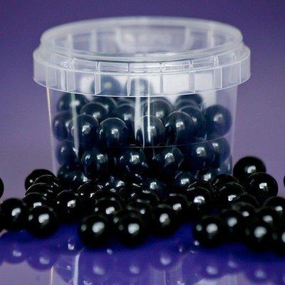 Purple Cupcakes Sugarballs -BLACK 10mm -Μαύρες Βρώσιμες Πέρλες 80γρ