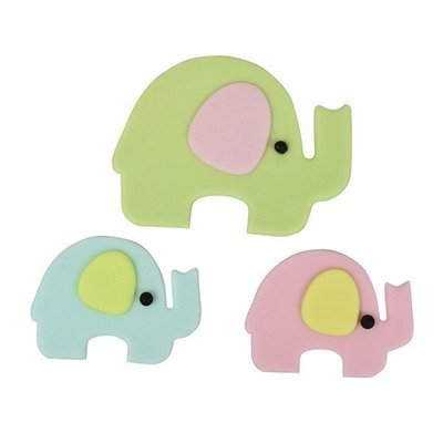 FMM Cutters -Mummy & Baby ELEPHANTS -Κουπάτ Ελέφαντας Μαμά & Μωράκι 2 τεμ