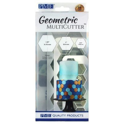 PME Geometric Multicutters -Set of 3 -HEXAGON -Πολλαπλό Κουπάτ Γεωμετρικό Εξάγωνο 3 τεμ