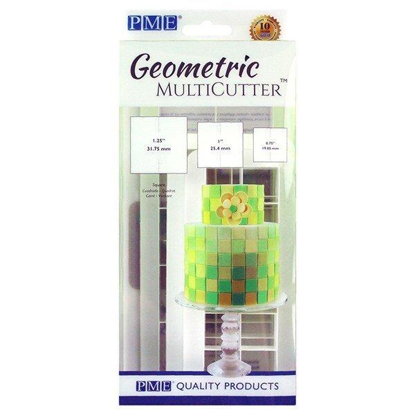 PME Geometric Multicutters -Set of 3 -SQUARES -Πολλαπλό Κουπάτ Γεωμετρικό Τετράγωνο 3 τεμ