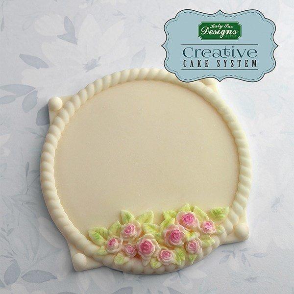 Katy Sue Mould by Ceri Griffiths Petite Fleur Circle Plaque -Καλούπι Μικρή Στρογγυλή Πλάκα με Λουλούδια