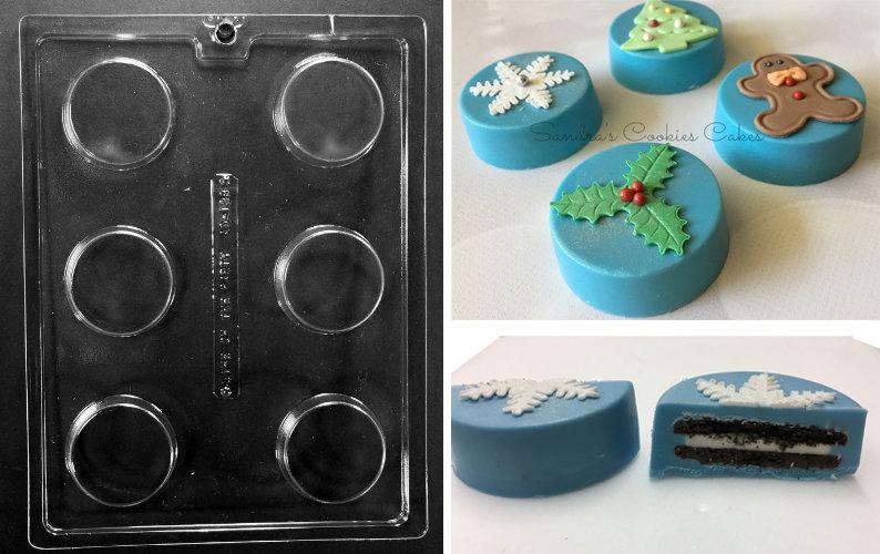 Oreo Cookie Chocolate Mould - Καλούπι για Κατασκευή Μπισκότα Όρεο - 57x19χιλ