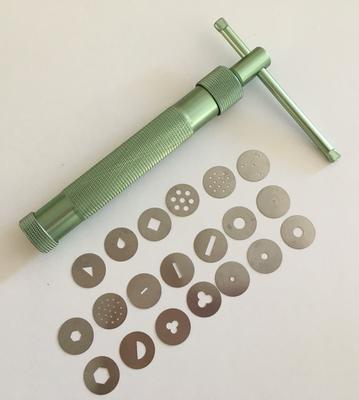 #Sugarcraft Gun with 20 interchangeable disks  -Πιστόλι Ζαχαροτεχνικής με 20 ανταλλακτικά σχέδια