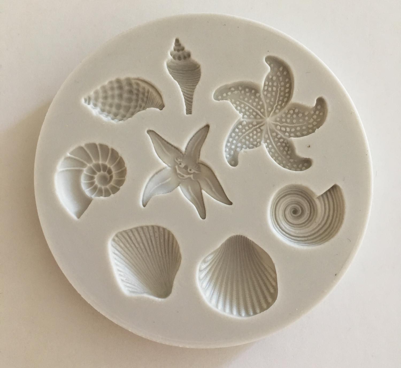 #Mould - Shells & Starfish - Καλούπι Κοχύλια και Αστερίες - Περίπου 6εκ