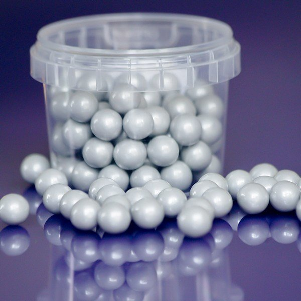 Purple Cupcakes - Pearl Silver Edible Pearls - Ασημένιες Βρώσιμες Πέρλες - 10χιλ - 80γρ