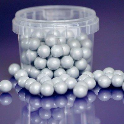 Purple Cupcakes Sugarballs -SILVER PEARL 10mm -Ασημένιες Βρώσιμες Πέρλες 80γρ