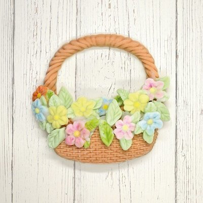 Katy Sue Silicone Mould -BASKET & FLOWERS -Καλούπι Καλάθι & Λουλούδια