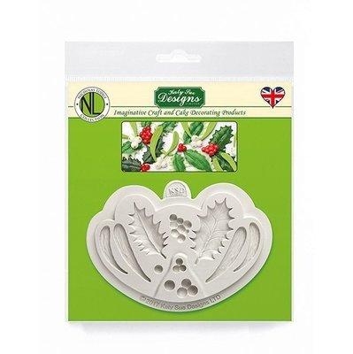 Katy Sue Mould Nicholas Lodge Collection Holly & Mistletoe -Καλούπι Πρίνος & Γκι