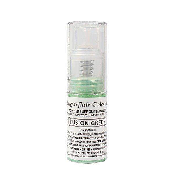 SALE!!! Sugarflair Powder Puff Glitter Dust Pump Spray - Fusion Green 10g - Βρώσιμο γκλίτερ έντονο πράσινο σε αντλία  ΑΝΑΛΩΣΗ ΚΑΤΑ ΠΡΟΤΙΜΗΣΗ 12/2026