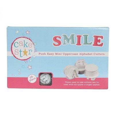 Cake Star - Push Easy Mini Cutters Uppercase Alphabet Set of 26 - Κουπάτ 26 Κεφαλαία Γράμματα - 2-7εκ