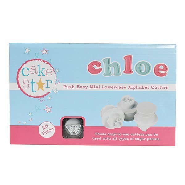 Cake Star - Push Easy Mini Cutters - Lowercase Alphabet set of 26 - Κουπάτ 26 Μικρά Γράμματα Αλφάβητου - 4x4εκ
