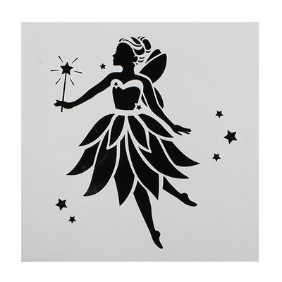 SALE!!! Cake Star - Stencil Fairy - Στένσιλ Νεράϊδα - 148x148χιλ