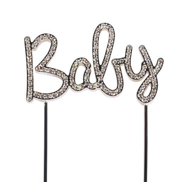 Cake Star Topper -Diamante 'Baby' Pic - 111mm