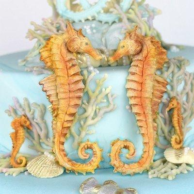 Katy Sue Mould Seahorses -Καλούπι Ιππόκαμποι