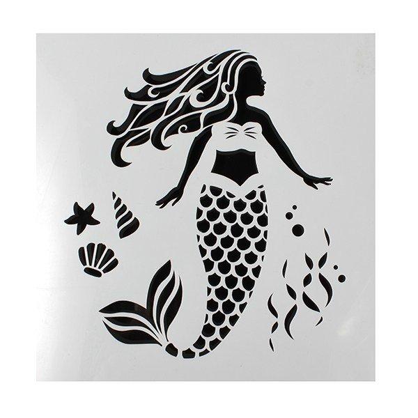 SALE!!! Cake Star - Stencil Mermaid - Στένσιλ Γοργόνα - 148x148χιλ