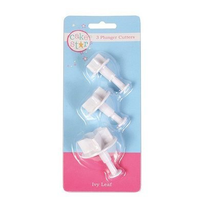 Cake Star Plunger Cutters Ivy -Set of 3 - Κουπάντ Κισσός με Εκβολέα -3 τεμ.