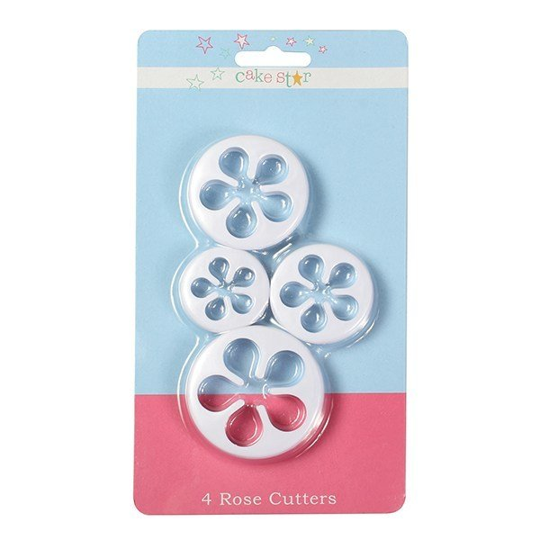 Cake Star Cutters -ROSE Set of 4 -Κουπάτ Τριαντάφυλλα 4 τεμ