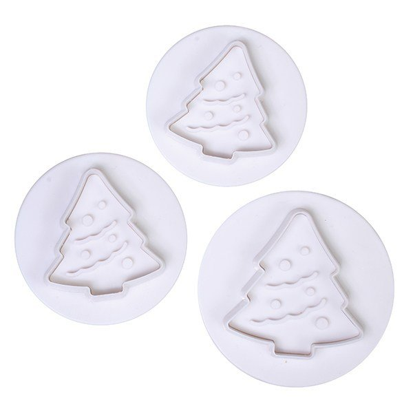 Cake Star Plunger Cutters -CHRISTMAS TREES -Κουπάντ Χριστουγεννιάτικο Δέντρο με Εκβολέα 3 Τεμ.