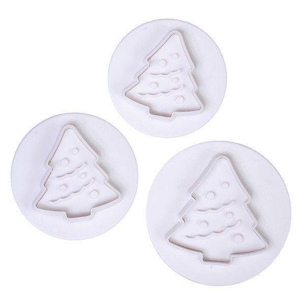 Cake Star Plunger Cutters -Christmas Tree -Set of 3 -Κουπάντ Χριστουγεννιάτικο Δέντρο με Εκβολέα -3 Τεμ.