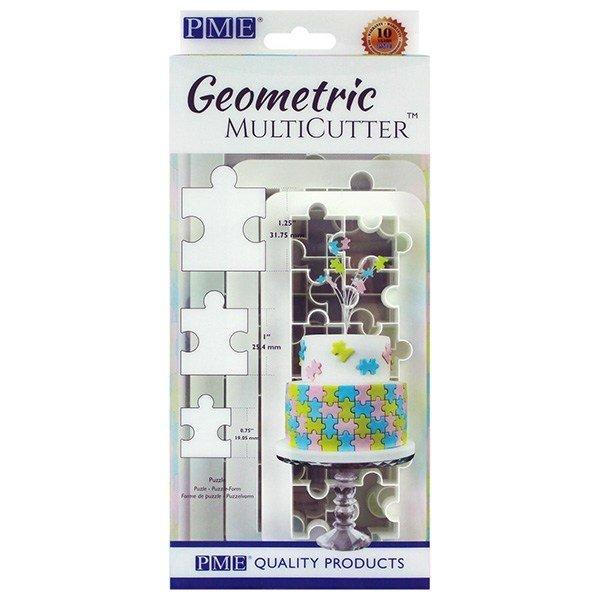 PME - Geometric Cutters Puzzle Multicutter 3pcs - Πολλαπλό Κουπάτ Γεωμετρικό Παζλ - 3τεμ - 3.1 + 2.5 + 1.9εκ