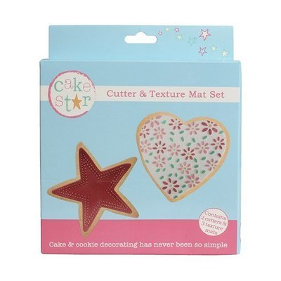 Cake Star - Cutter & Texture Mat Set Heart & Star - Κουπάτ Καρδιά & Αστέρι - σετ 3 Τεμαχίων