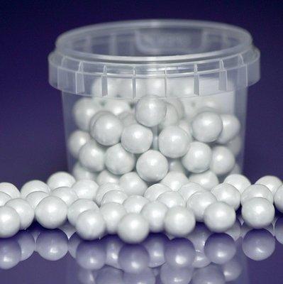 Purple Cupcakes Sugarballs -WHITE PEARL 10mm -Λευκές Βρώσιμες Πέρλες 80γρ