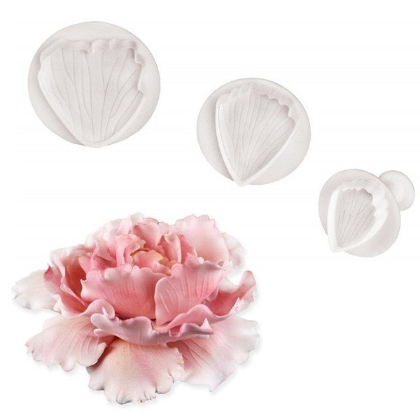 PME Plunger Cutters -Set of 3 -PEONY -Κουπάτ με Εκβολέα Παιωνία 3 τεμ