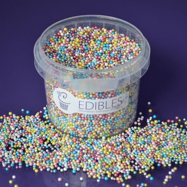 Purple Cupcakes Nonpareils -MULTI COLOURED SHIMMER -Κας-Κας Γυαλιστερό Πολύχρωμο 100γρ