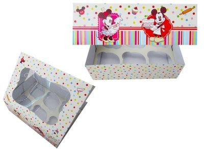 *Mickey & Minnie Mouse Box for 6 Cupcakes -Κουτί για 6 Cupcakes