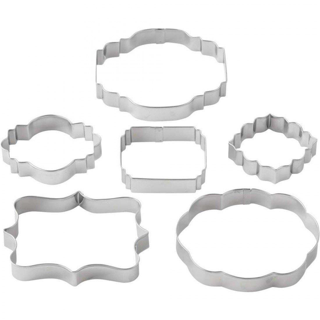 Wilton Cookie Cutter Set of 6 -GEOMETRIC FRAME/PLAQUE -Γεωμετρικά κουπάτ Κορνίζες/πλάκες 6τμχ