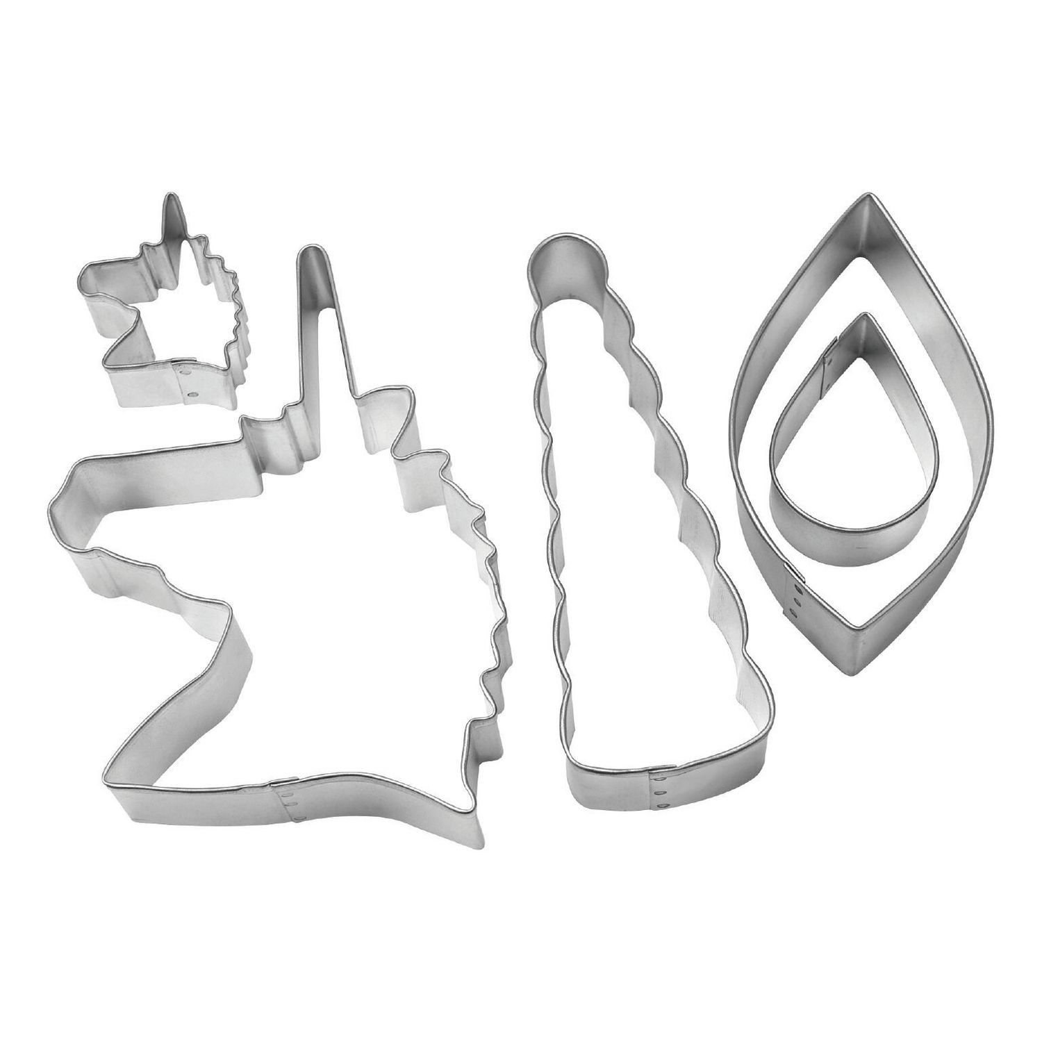 by AH - Cookie Cutter Set of 5 Unicorn Cake Decorating Kit - Κουπάτ Μονόκερος - σετ 5 Τεμαχίων - 4,4 - 12εκ