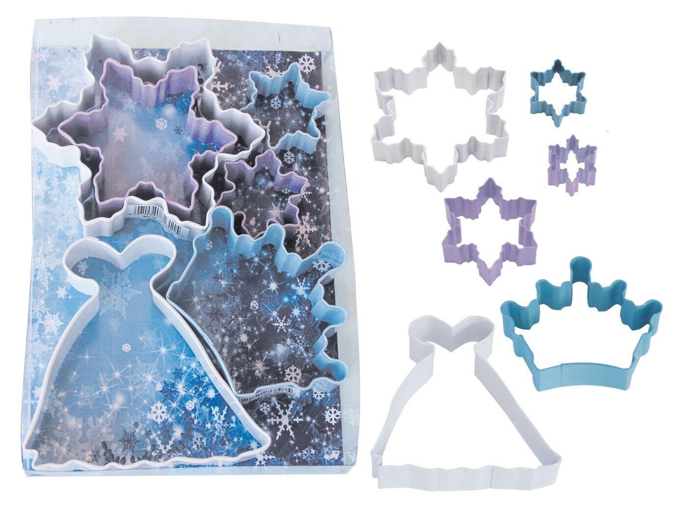 SALE!!! By AH -Set of 6 Cookie Cutters 'SNOW QUEEN' -Κουπάτ Βασίλισσα του Χιονιού -σετ με 6 τεμ.