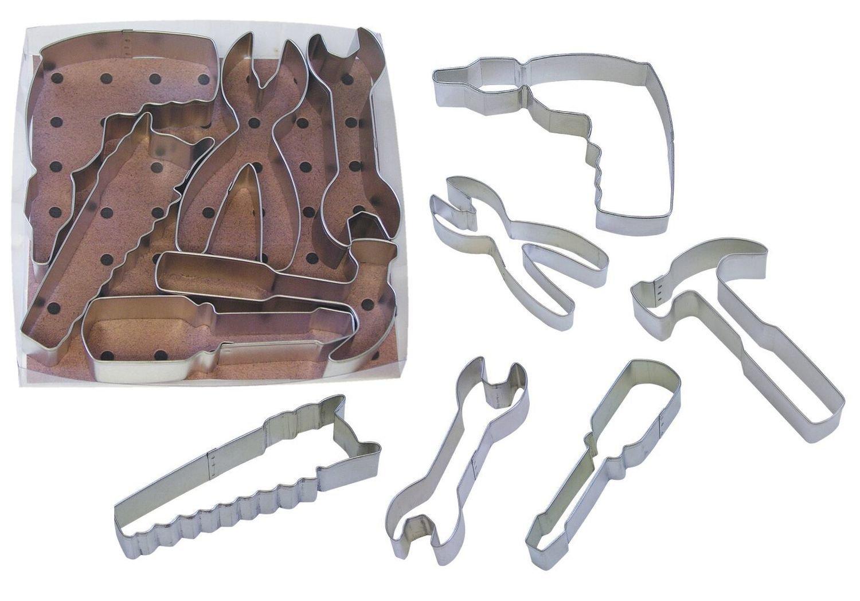 By AH -Set of 6 Cookie Cutters 'TOOLS' -Κουπάτ Εργαλείοθήκη -σετ με 6 τεμ.