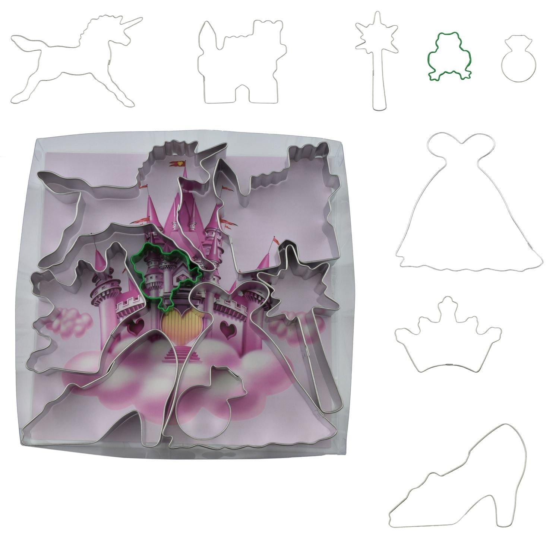 by AH - Cookie Cutter Set of 8 Little Princess - Κουπάτ Μικρή Πριγκίπισσα - Σετ 8 Τεμαχίων - 8εκ