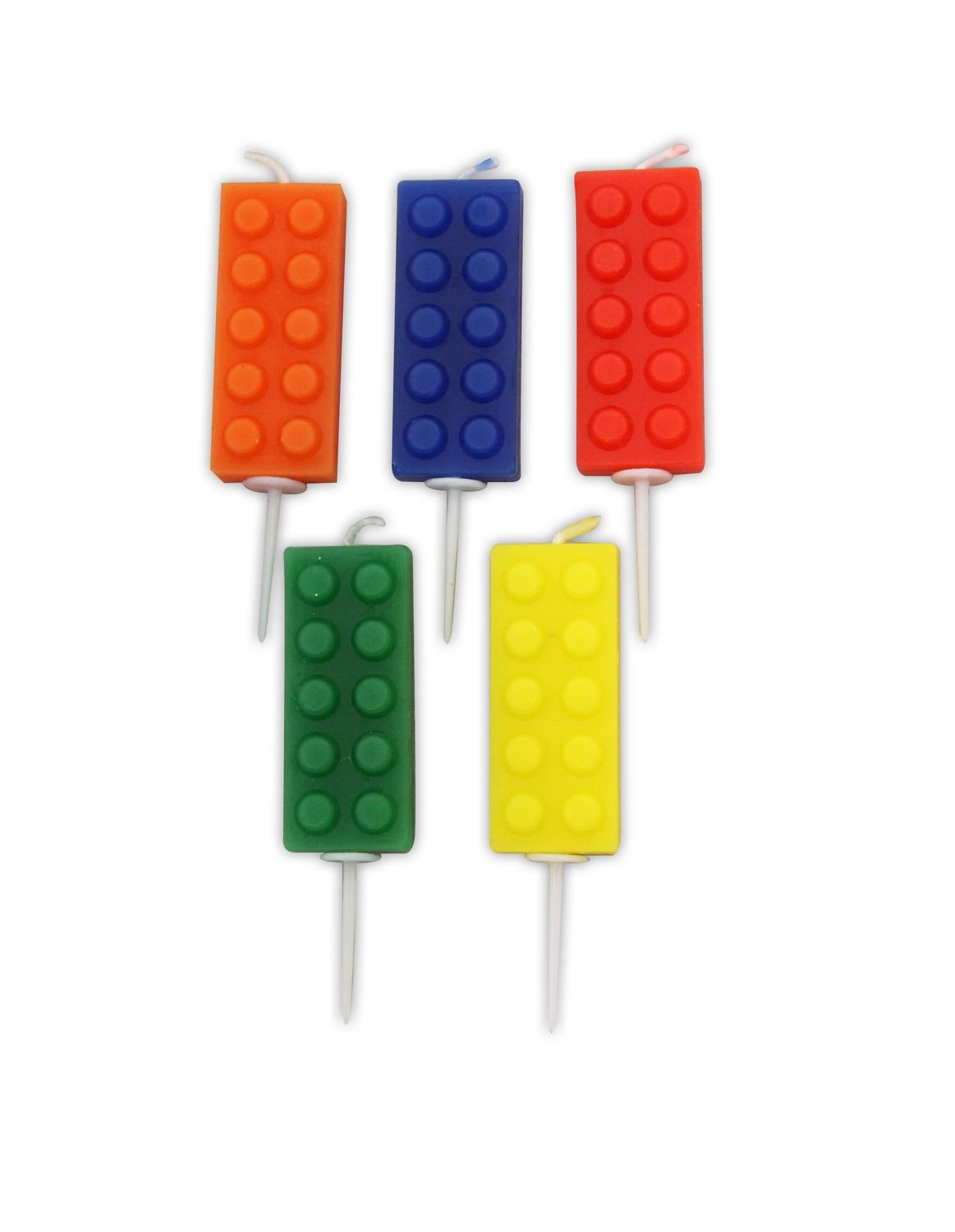 By AH Candles -Set of 5 BRICKS -Κεράκια Lego Τουβλάκια 5 τεμ