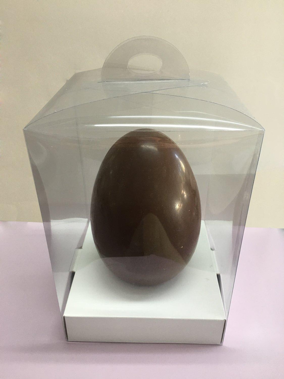 Εgg Βox -LARGE with HANDLE -Διάφανο Κουτί Τσαντάκι με Πατάκι για Πασχαλινά Αυγά -Μεγάλο 21x21x30cm