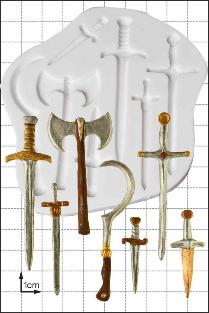 By FPC -Silicone Mould -SWORDS & WEAPONS -Καλούπι Σπαθιά & Όπλα