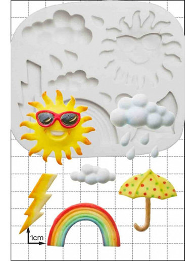 By FPC -Silicone Mould -WEATHER -Καλούπι Καιρός