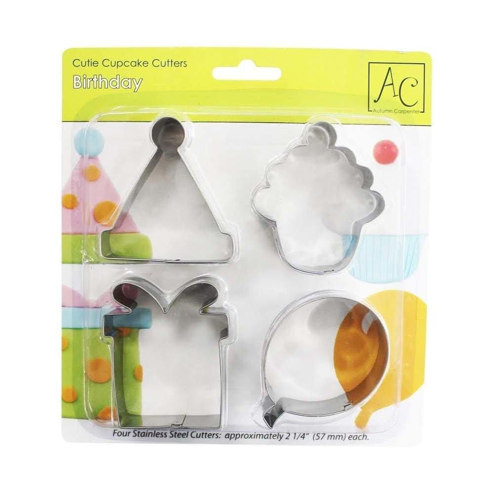 Autumn Carpenter BIRTHDAY Cupcake And Cookie Cutters -Κουπάτ με Θέμα Χαρούμενα Γενέθλια 4 τεμ