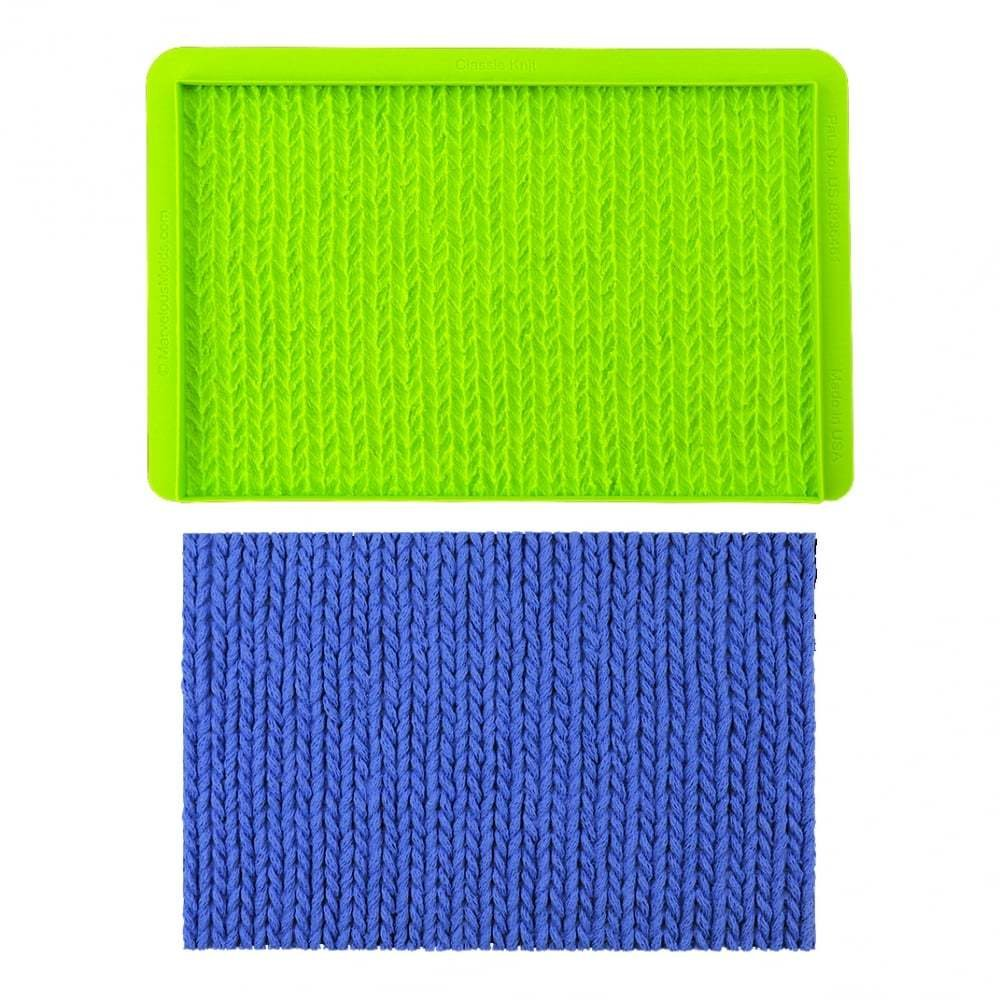Marvelous Molds Embossing Mat -Simpress Mould -Classic Knit