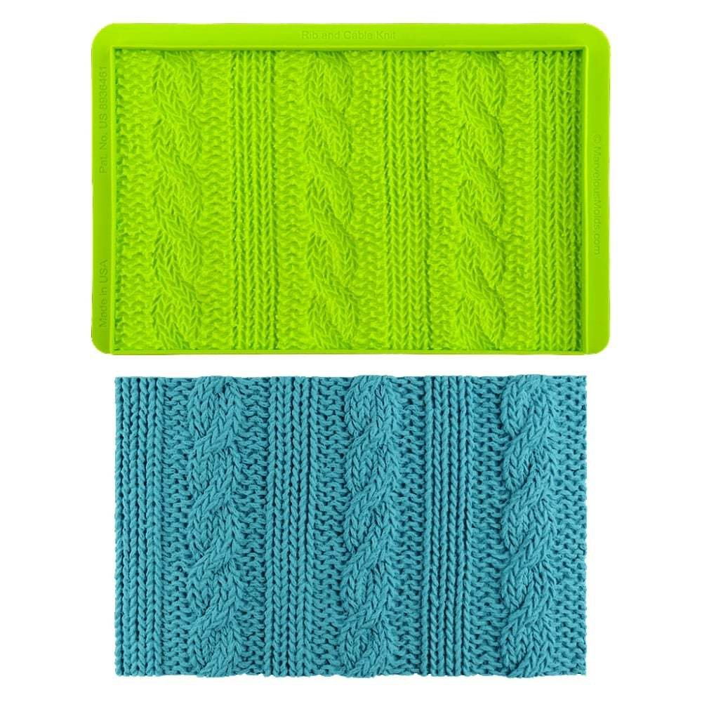 Marvelous Molds Embossing Mat -Simpress Mould -Rib & Cable Knit