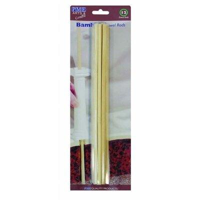 PME Dowels -Wooden Bamboo - Ξύλινες Κολώνες Στήριξης από Μπαμπού 12τεμ
