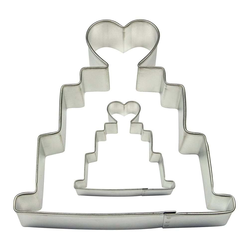 PME Cookie Cutters -Set of 2 -WEDDING CAKES -Κουπάτ Γαμήλια Τούρτα 2 τεμ