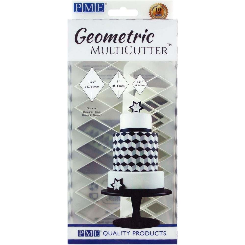 PME - Geometric Cutters Diamond Multicutter 3pcs - Πολλαπλό Κουπάτ Γεωμετρικό Ρόμβος - 3τεμ - 3.1 + 2.5 + 1.9εκ