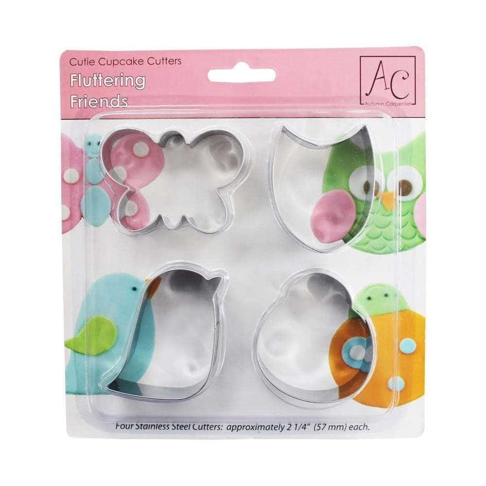Autumn Carpenter FLUTTERING FRIENDS Cupcake And Cookie Cutters -Κουπάτ Φτερωτοί Φίλοι 4 τεμ