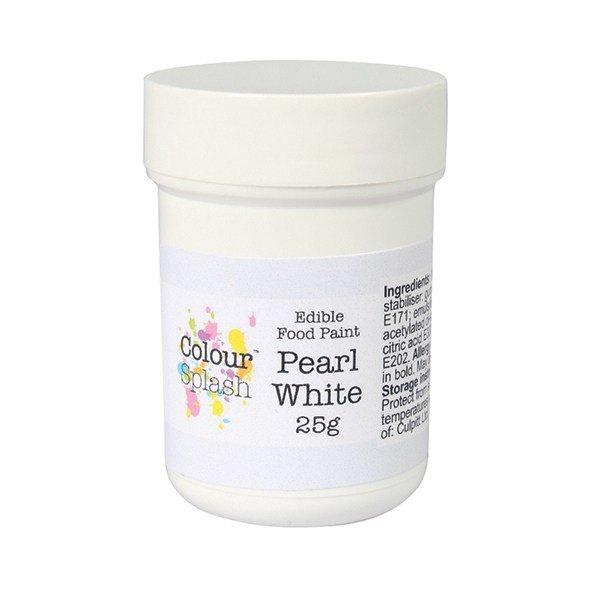 Colour Splash Edible PAINT -PEARL WHITE -Βρώσιμο Χρώμα Ζωγραφικής -Λευκό Περλέ 25γρ