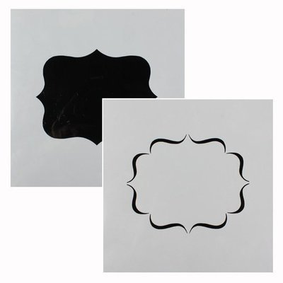 SALE!!! Cake Star - Stencil Plaque 2 Designs - Στένσιλ Πλάκα 2 Σχεδίων - 148x148χιλ