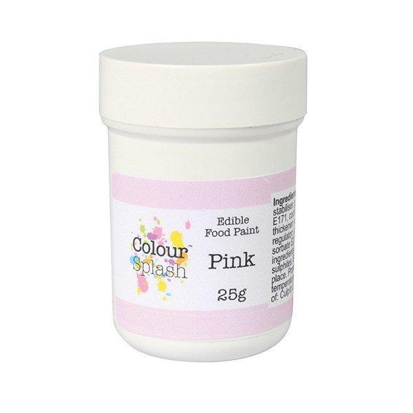 Colour Splash - Edible Paint Matt Pink - Βρώσιμο Χρώμα Ζωγραφικής - Ροζ Ματ - 25γρ