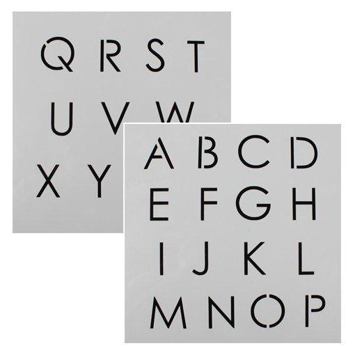 Cake Star - Alphabet Stencil - Στένσιλ Αλφάβητος Κεφαλαία - 2-3εκ