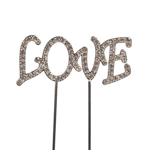 Cake Star Topper Diamante -LOVE -Τόπερ με Διαμαντάκια